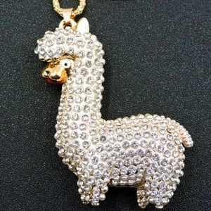 Betsy Johnson alpaca necklace